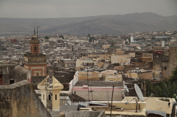 A view of Fes: one of Morocco's largest cities, it has been around since the 8th century and still thrives. Photo: Jessica Tingle